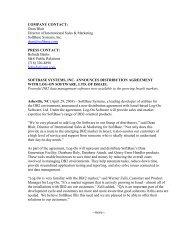 COMPANY CONTACT - SoftBase Systems, Inc.