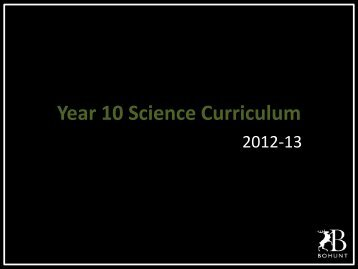 GCSE Science presentation - Bohunt School