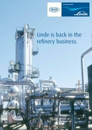 Linde is back in the refinery business. - Linde-India