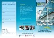 RCT Crime Reduction Leaflet - Rhondda Cynon Taf