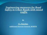 Mr. V. L. Patankar, ADG, MoRT&H - IRF India chapter