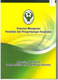 Pedoman Manajemen Litbangkes - Badan Litbangkes