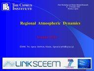Regional Atmospheric Dynamics - LinkSCEEM
