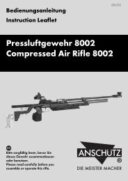 Pressluftgewehr 8002 Compressed Air Rifle 8002 - Field Target
