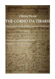 The « Corno da tirarsi » - Barokensemble De Swaen