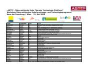 Teilnehmer (PDF, 130 kB) - Austria Solar