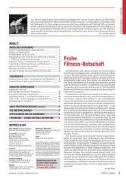 Frohe Fitness-Botschaft - Badischer Sportbund Nord eV