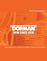 Annual Report 2010 - Dorman Products