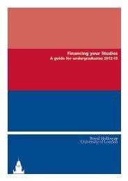 Financing your Studies - Royal Holloway, University of London
