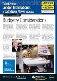 Budgetry Considerations - London Boat Show