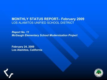 February 24, 2009 Presentation - Los Alamitos Unified School District