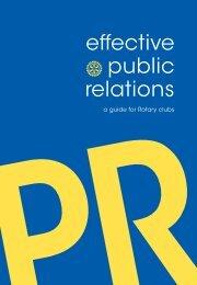 des relations publiques efficaces - Rotary International