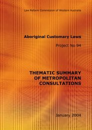 Thematic Summaries of Consultation Meetings - Law Reform ...