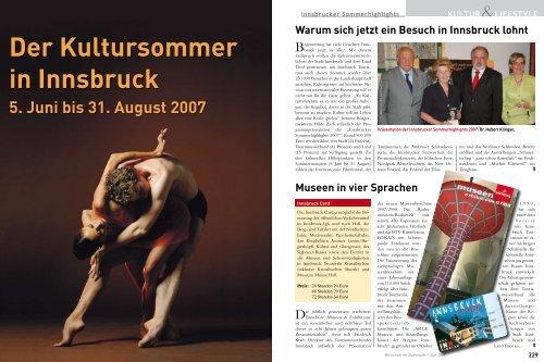 Sonderthema Innsbrucker Kultursommer - wia
