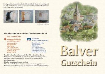 herunterladen: Flyer Balver Gutschein 2011