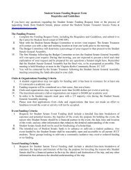 Student Senate Funding Request Form Requisites and Guidelines If ...