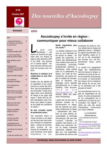 Des nouvelles d'Ascodocpsy