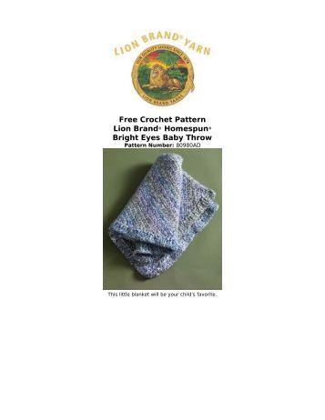 Free Crochet Pattern Lion Brand® Homespun® Bright Eyes Baby ...