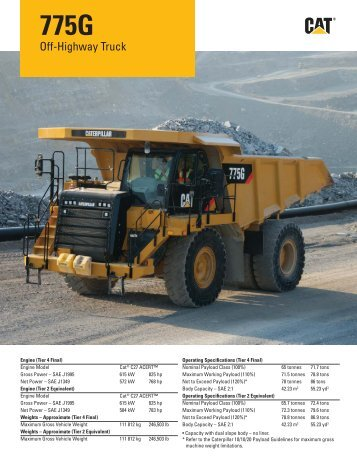 AEHQ6350-01, Cat 775G Off-Highway Truck Specalog