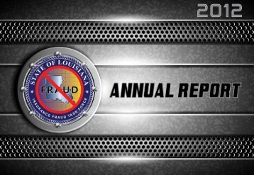 2012 Annual Report - Louisiana State Police