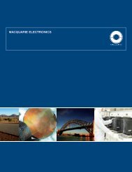 Electronics brochure - Macquarie