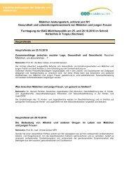 Kurzbeschreibung Referate und Workshops