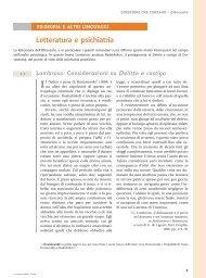Letteratura e psichiatria - Loescher Editore