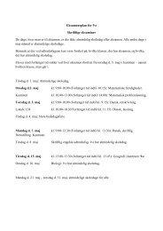 Eksamensplan for 9.e Skriftlige eksaminer De dage, hvor man er til ...