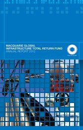 macquarie global infrastructure total return fund annual report 2012
