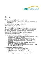 Satzung - Bundesarbeitsgemeinschaft Mädchenpolitik