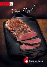 """Broschüre """"Vom Rind"""" - Schweizer Fleisch"""