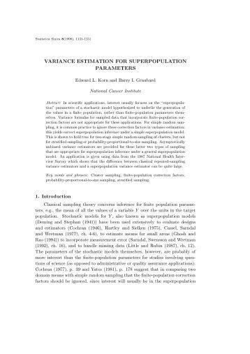 variance estimation for superpopulation parameters - Institute of ...
