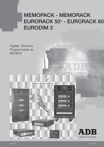 memopack - memorack eurorack 50+ - ADB Lighting Technologies