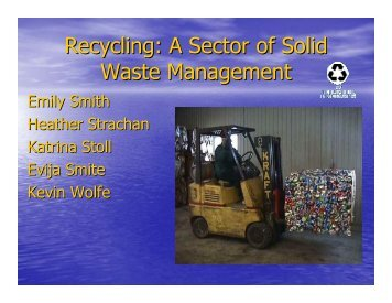 Recycling: A Sector of Solid Waste Management