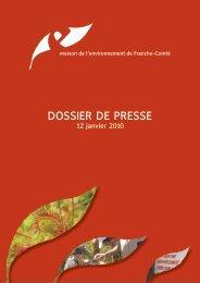 dossier de presse - La maison de l'environnement de Franche-Comté
