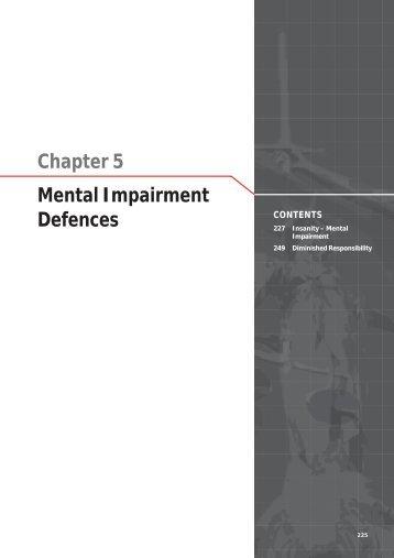 Chapter 5 Mental Impairment Defences - Law Reform Commission ...