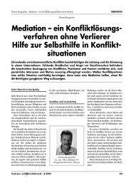 Mediation – ein Konfliktlösungs- verfahren ohne Verlierer Hilfe zur ...