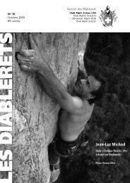 Octobre 2009 - Club Alpin Suisse - Section des Diablerets