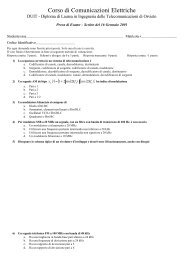 Corso di Comunicazioni Elettriche - DSP Laboratory - DIEI