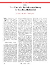 Eine Ein-, Zwei oder Drei-Staaten-Lösung für Israel ... - Ludwig Watzal