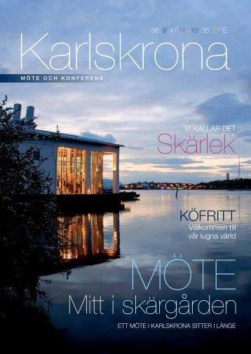 Möte mitt i skärgården broschyr - Karlskrona kommun