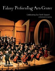 Falany Performing Arts Center - Reinhardt University