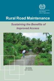 Rural Road Maintenance - International Labour Organization