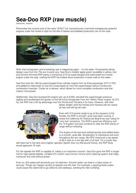 Sea-Doo RXP (raw muscle) - Jet-Team