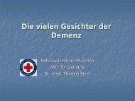 Demenz - Rotkreuzklinikum München