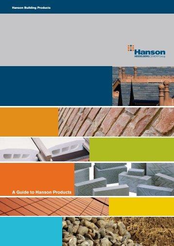 A guide to hanson products - masonry first - Masonryfirst.com