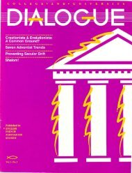 No.2 - College and University Dialogue - General Conference of ...