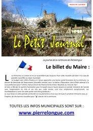 Le billet du Maire : www.pierrelongue.com - Quomodo