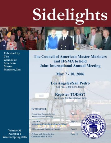 Sidelights Spring 2006 - Council of American Master Mariners