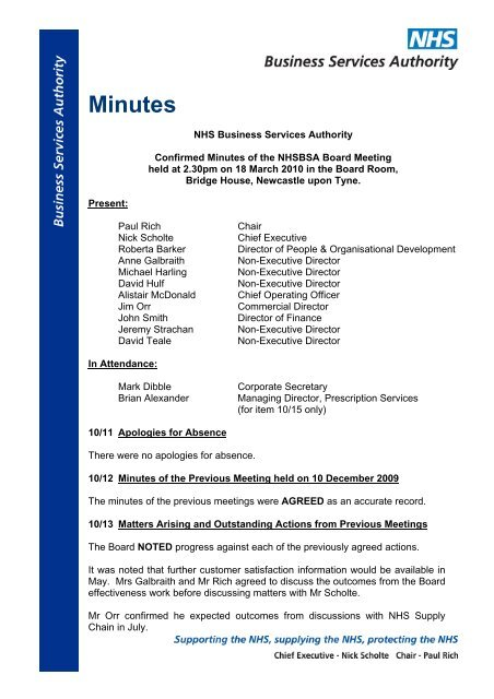 df2bc27adb5 Minutes - NHS Business Services Authority